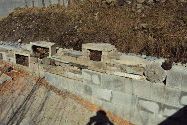 5.2 Vorher, Recyclingmauer